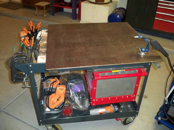 Multifunctional DIY welding cart