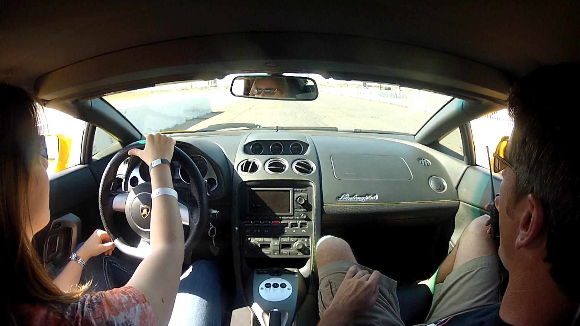 Lamborghini Gallardo Spyder Drive Along » Veronica Driving Lamborghini  Gallardo Spyder.Still023