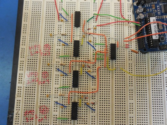 Arduino frequency display for kenwood ts s hf ham radio