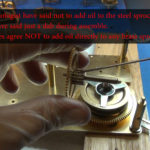 How to Assemble Oil and Grease a Grandfather Clock - part 3 of 4.Still010